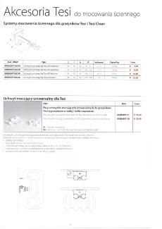 Tesi - akcesoria do montażu naściennego