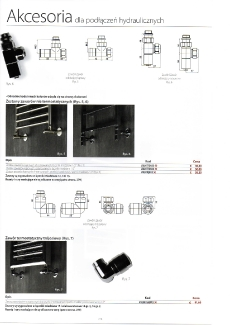 Akcesoria - podłączenia hydrauliczne